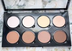 NYX Cosmetics Highlight and Contour Pro Palette. HUGE beauty bargain...and replaceable, large pan sizes.