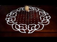Beautiful Flowers and Shanque Rangoli Designs with 21x11 middle for sankranthi muggulu - YouTube