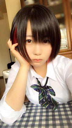 """(夜道雪《北海道の秘密兵器》さんのツイート: """"少数派だとは思いますが 黒×赤 が好きな人に届け。… """"から) Japan Girl, School Girl Japan, School Uniform Girls, Cute Asian Girls, Sweet Girls, Cute Girls, Cute Cosplay, Cosplay Girls, Kawaii Cute"""