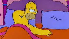 Homero: Marge, ven a la cama - Marge: Ahora no Homer