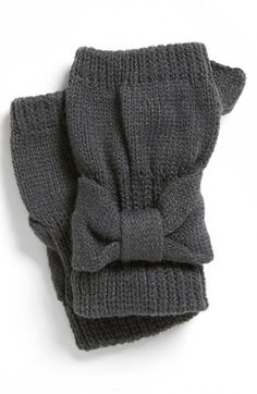David & Young Bow Fingerless Gloves (Juniors)