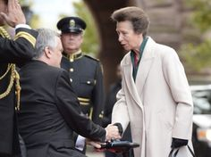 Princess Anne is visiting Canada. The Princess Royal is photographed here at Queen's Park in Toronto