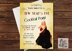 New Years Eve Invitation New Years Eve by SugarSpiceInvitation