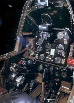 SBD Dauntless cockpit.