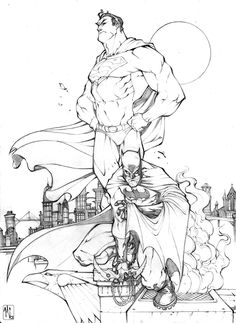 dynamic duo-pencils by ZurdoM.deviantart.com on @deviantART