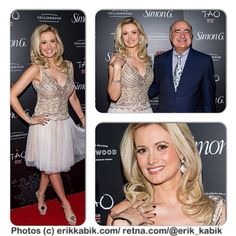 Great photo collage via erikkabik: @Holly Carbaugh shines on red carpet at #simongsoiree #simongjewelry annual summer soirée @Hu Jin Tao @venetianvegas