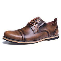 Zapatos de cuero genuino de gran tamaño