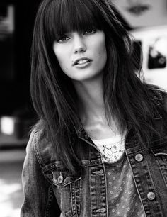 Kendra Spears For H Ss  Collection Part  Long Hair With Bangs