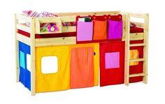 Flexa Loft Bed Curtains, Loft Bed Tents or Curtains | voondecor