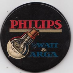 BULBS FROM PHILIPS - ADVERTISING ON A VERY NICE POCKET MIRROR