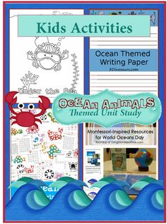 Over 15 Ocean Animals Theme Unit Activities for Kids {plus a giveaway}