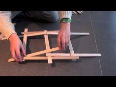 Hoe bouw je een brug volgens Leonardo da Vinci's concept met 18 verflatjes... YouTube