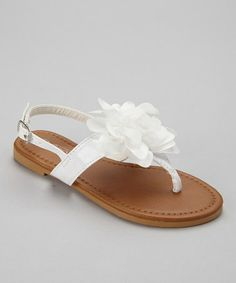 Rachel and Cambria shoes? Another great find on #zulily! White Patent Paula Sandal by COCO Jumbo #zulilyfinds