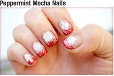 Peppermint mocha nails