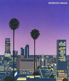 大滝詠一『A LONG VACATION』ジャケで知られる永井博の個展、「渋谷」テーマの新作も