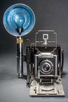 "Burke & James 4x5 ""Speed Press"" Camera with Heiland flashgun"