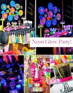 Fancy Parties From Babies to Their Puppies: Tween Neon Party Inspiration