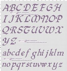 amorevitacrocette: various cross-stitch alphabets - amorevitacrocette: various cross-stitch alphabets - Cross Stitch Letter Patterns, Cross Stitch Letters, Cross Stitch Love, Cross Stitch Charts, Stitch Patterns, Crochet Alphabet, Embroidery Alphabet, Alphabet Templates, Alphabet Charts