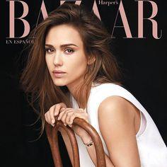Jessica Alba star the cover of Harper's Bazaar Mexico March 2017 captured by Adam Franzino.
