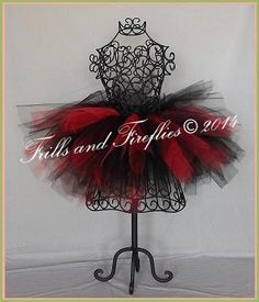 Tutu Black and Red Baby to Adult by FrillsandFireflies on Etsy