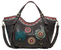 Desigual Siara Rotterdam Shoulder Bag Negro Combined with simple colors,the shoulder bag with its beautiful pattern can breathe life into your outfit. Rotterdam, Shopper, Khaki Green, Black Canvas, Beautiful Patterns, Backpacks, Shoulder Bag, Handbags, Best Deals