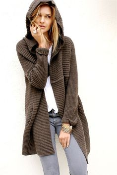 × - [pin_board_name Summer Sweaters, Casual Sweaters, Knit Jacket, Knit Cardigan, Fall Fashion Colors, Casual Friday Outfit, Pijamas Women, Knitted Coat, Knitting Designs