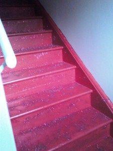 Pink glitter stairs!   My stairway to heaven!