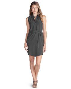 Women's Departure Sleeveless Shirt Dress | Eddie Bauer