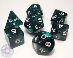 Pearlized Emerald Dice Set, $6.00