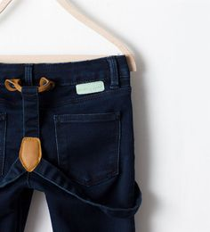 SKINNY JEANS WITH SUSPENDERS from Zara