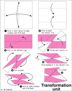 Origami Transformation Cube instruction