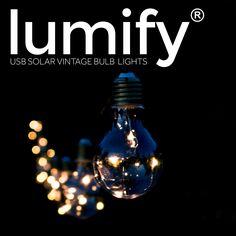 Lumify USB Solar Vintage Bulb Lights