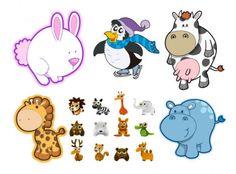 cute cartoon animals vector material