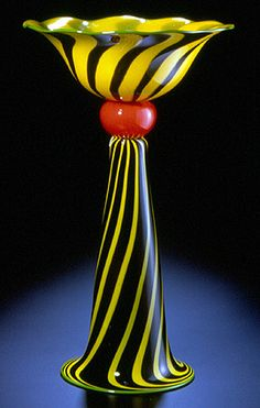 Chalice Blown glass sculptural vessel. Hanson Art Glass