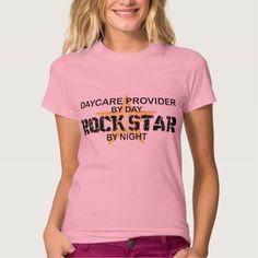 Daycare Provider Rock Star T Shirt, Hoodie Sweatshirt