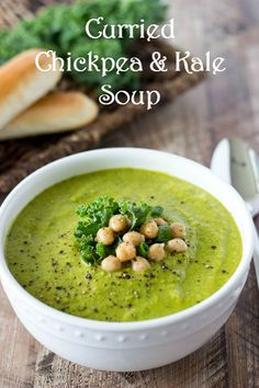 Curried Chickpea and Kale Soup | from Simple Healthy Kitchen