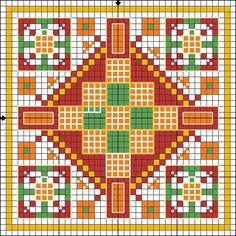 Cross-stitch Biscornu  ... no color chart available, just use pattern chart as your color guide.. or choose your own colors...    Gallery.ru / Фото #2 - Игольницы - TIMOSHAVA