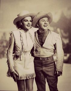 """Judy Garland and Mickey Rooney in """"Girl Crazy"""", 1943."""