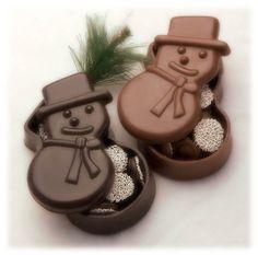 Chocolate Snowman Dish - Dark - Sweet Designs Chocolatier
