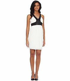ce3c99099ee NV Nick Verreos FauxLeather Jersey Dress  Dillards