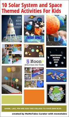 Solar system and space related activities and crafts for kids