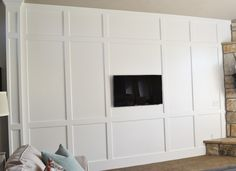 Sita Montgomery Interiors: My New Home: Family Room Board and Batten Wall Reveal