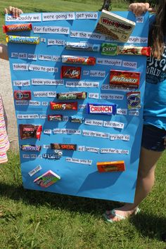 HUGE Father's Day card made from the names of candy.  Any dad would love it!