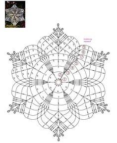 How To Knit: Crochet snowflakes, free crochet pattern Crochet Snowflake Pattern, Crochet Stars, Christmas Crochet Patterns, Crochet Snowflakes, Crochet Doily Patterns, Crochet Diagram, Thread Crochet, Crochet Granny, Crochet Crafts