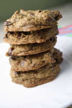 Wholegrain Chocolate Chip Cookies- Gluten Free, Vegan and Sugar Free