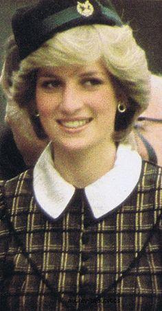 September 4, 1982: Princess Diana arriving at the Braemer Games, Scotland.
