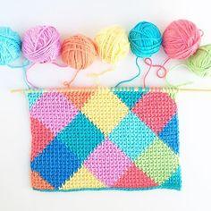 Another harlequin on my hook #tunisiancrochet #tunischhaken #crochet #makersgonnamake #crochetgirlgang