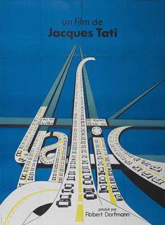 Wonderful #chromatictype in Andre Letria's film poster for Jacques Tati's Trafic   via @IsStevens