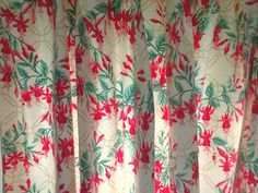 Pair Vintage 1988 Laura Ashley Lined Cotton Chintz Curtains Red Fuchsia Vintage Curtains, Red Curtains, Laura Ashley Fabric, Traditional, Cotton, Ebay, Red Blinds