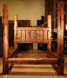 Barn wood bed... Myles I love this!!!!!!